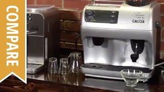 Compare: Gaggia Brera and Gaggia Syncrony Logic Espresso Machines