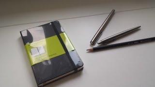 Moleskine Plain Notebook Review Und Schreibtest Mit Montblanc