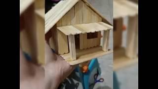 Cara Membuat Rumah Dari Stik Es Krim Simple म फ त