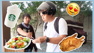 EATING DELIVERED FOODS ONLY FOR A DAY!