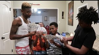 I GAVE DEDE3X, BAMBAM & MARK JR $2000 EACH  PRANK!!!