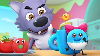 Big Bad Wolf Wanna Eat Donuts | Colors Song, Vegetables Song | Nursery Rhymes | Kids Songs | BabyBus