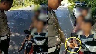 Video Viral Polisi Tilang 4 Anak Berboncengan Sepeda Motor Di Palembang