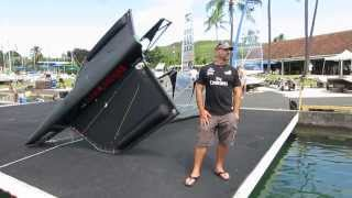 preview picture of video 'The International Moth Race at Kaneohe Yacht Club October 2013'