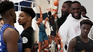 LEBRON JAMES LOSES HIS MIND, INSANE POSTER In HEATED GAME! Bronny, Diorr James, Skyy Clark in LA!