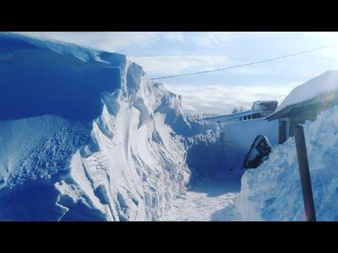 Целый поселок на Камчатке скрылся под снегом
