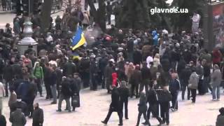 Харьков Майдан vs Антимайдан  Драки на площади Свободы 7 04 2014