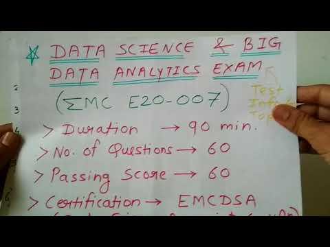 DATA SCIENCE EXAM INFORMATION TOPICSE20 007 DELL EMC ...