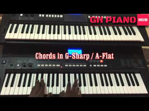 G sharp Beginner tutorial. Piano Afrik tutorial on the scale and sofas in Gsharp or Aflat