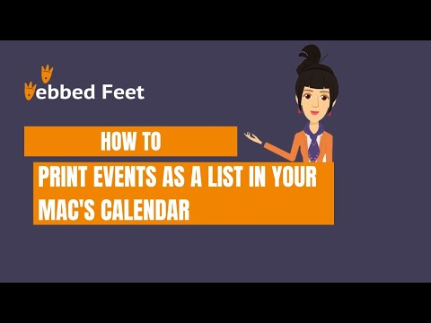 How to Print Events as a List in Your MAC's Calendar