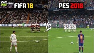 FIFA 18 vs PES 2018 Gameplay Comparison