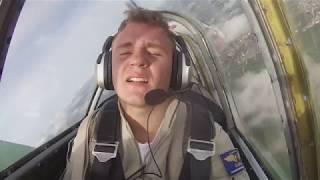Барсов Иван, Мякишев Александр Леонидович, тренировочный полет Як-52, г.Сургут. Боровая