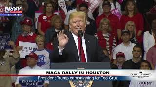 FULL MAGA RALLY: Pres. Trump Campaigns For Ted Cruz In Houston, Texas (FNN)