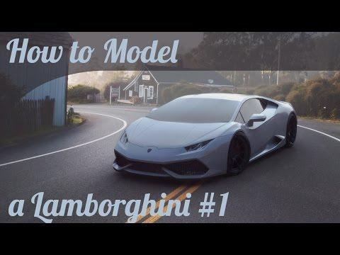 3D Car Modeling Tutorial pt.1 | Autodesk Maya | Modeling a Lamborghini Huracan