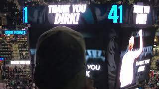 Spurs Tribute To Dallas Mavericks Dirk Nowitzki