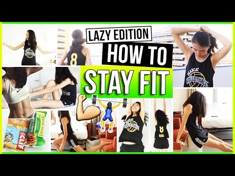 Video How to Stay Fit & Healthy for LAZY PEOPLE! Fitness + Workout Routine, Fun Exercises, Motivation 2016
