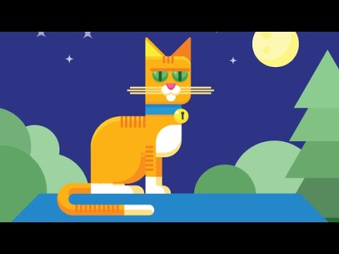 How to draw a stylish illustration of a cat on a rooftop in Adobe Illustrator