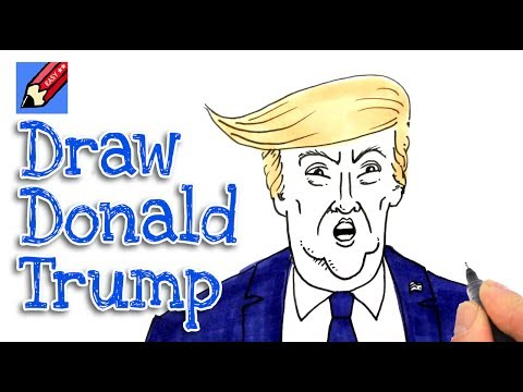 How To Draw Donald Trump Real Easy Shoo Rayner Author