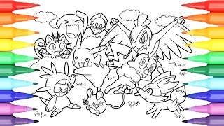 Pokémon Coloring Book Pages For Kids Speed Coloring Pikachu And Friends