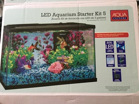 Aqua culture 5 gallon fish tank/aquarium kit