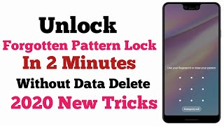 Unlock Forgotten Pattern Lock Without Data Loss | Unlock All Mobile