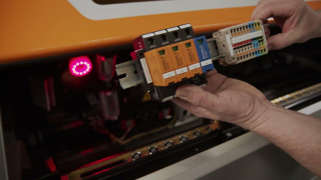 9. Automatische Beschriftung von Klemmenleisten und weiteren Tragschienenkomponenten mit dem RailLaser