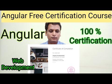 Angular Free Certification Course| Angular JavaScript free Course