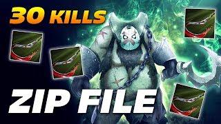 ZIP FILE PUDGE 30 KILLS OWNAGE   Dota 2 Pro Gameplay