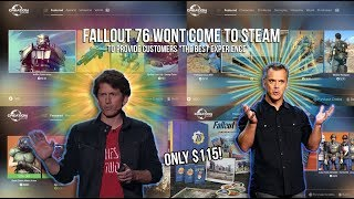 Fallout 76 wont hit steam to provide customers