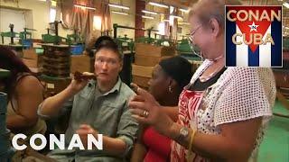 Conan Visits A Cuban Cigar Factory - CONAN On TBS