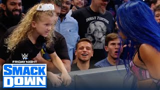 Sasha Banks tries to teach Lacey Evans a lesson in front of Lacey's kid | FRIDAY NIGHT SMACKDOWN