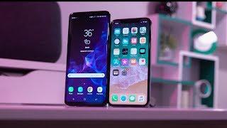 Galaxy S9 Plus Vs iPhone X // 30 Day Comparison!