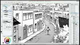 Comic Art Demo: drawing in Manga Studio