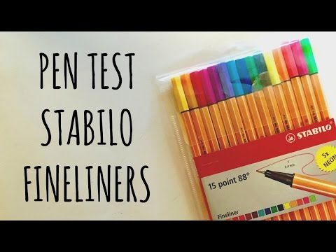 PEN TEST | Stabilo 15 point 88 Fineliner Pens
