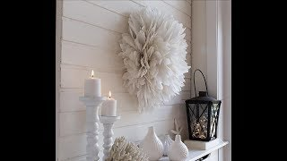DIY Dollar Tree Winter Wall Feather Accent Piece