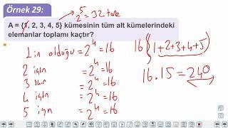 Eğitim Vadisi 9.Sınıf Matematik 4.Föy Kümeler 2 Konu Anlatım Videoları