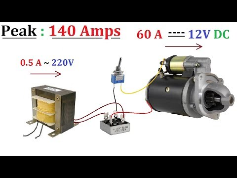 12V 60A DC from 220V AC for High Current DC Motor 1000W - Amazing idea