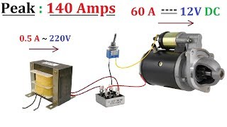 Download Video 12V 60A DC from 220V AC for High Current DC Motor 1000W - Amazing idea MP3 3GP MP4
