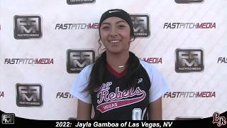 2022 Jayla Gamboa Pitcher and Third Base Softball Skills Video - Lil Rebels