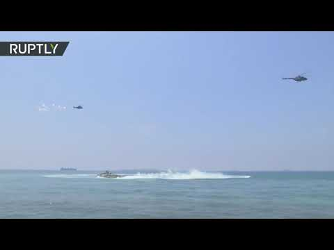 Syria/Iraq update 7/26/2020.. Navy ships and jets take part in a parade in the port of Tartus on Russian Navy Day in Syria