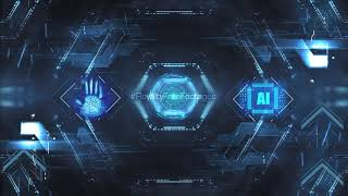 Animated background video effect | Technology animated background video loop | Royalty Free Footages