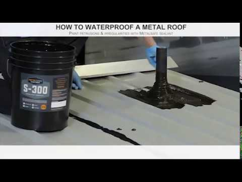 Liquid Rubber applied to a Metal Roof