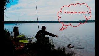 Рыбалка на озере кушелка