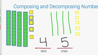 Decomposing Numbers: Tens And Ones With Base Ten Blocks