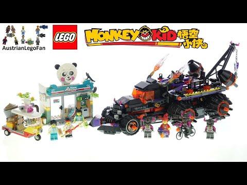 Vidéo LEGO Monkie Kid 80011 : Le camion Inferno de Red Son