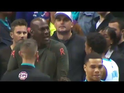 Michael Jordan Smacks Malik Monk For Getting Technical Foul After Running On The Court!