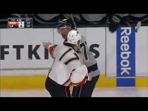 Carter pops back up after taking a hard punch by Kesler