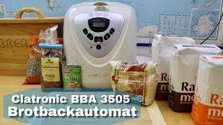 Brot selber backen im Brotbackautomat - Clatronic BBA 3505