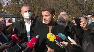 Novi gradonačelnik Draško Stanivuković došao na Trg Krajine, a ovako je dočekan