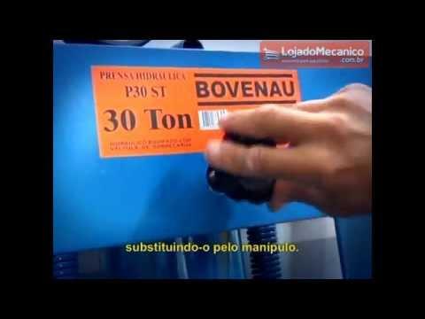 Prensa Hidráulica 100 Toneladas com Auxiliar de 15 Toneladas - Video